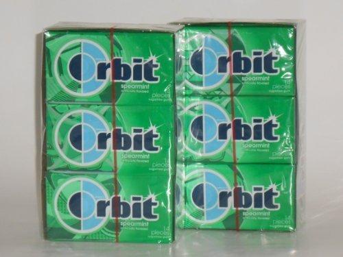 Orbit Spearmint Sugarfree Gum (2 Boxes = 24 Packages) by Orbit