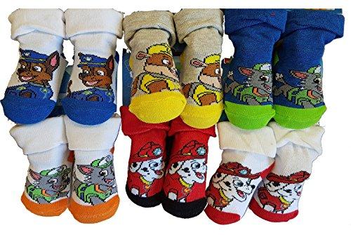 Disney. Chaussettes bébé Pieds formés Licence: Mickey, Pat Patrouille, Spiderman. Assortiments modèles Photos Selon arrivages (6/12 Mois, Pack de 6 Pat Patrouille Modèle garçon)
