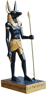 エジプトの王国の置物の像、アヌビスの装飾品古代エジプトのエジプトの神の像ホルスパトロン聖人のお土産、6 * 9.5 * 23cm