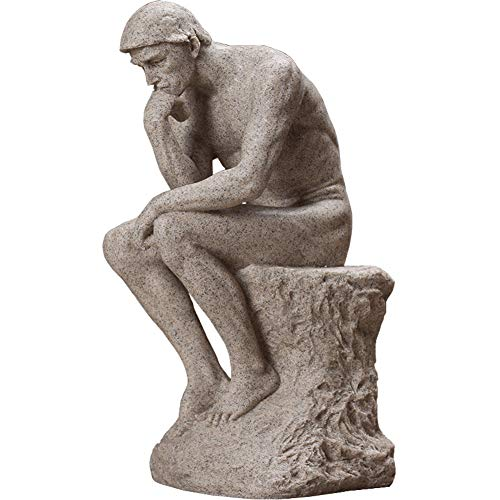 qwqqaq Clásico Rodin El Pensador Estatua,Resina Arte Escult