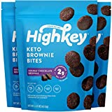 HighKey Snacks Keto Low Carb Food Chocolate Brownie Cookie Bites - Paleo, Diabetic, Atkins Diet Friendly - Gluten Free, Low Sugar Dessert Treats & Sweets - Ketogenic Products Healthy Protein Brownies