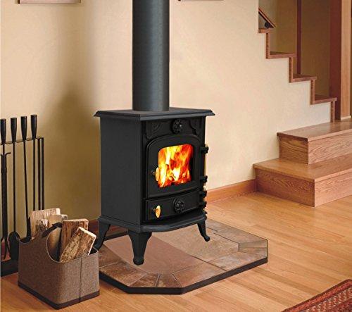 Lincsfire Saxilby JA013 6.5KW Type A Multifuel Cast Iron Log Burner Wood Burning Stove Woodburners +...