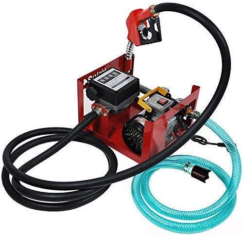 Dieselpumpe HaroldDol 230V 550W 3600 l/h Heizölpumpe Elektrische Diesel Kraftstoff-Umfüllpumpe Pumpe selbstansaugend mit Schläuchen, Zapfpistole und Zählwerk Filteranlage