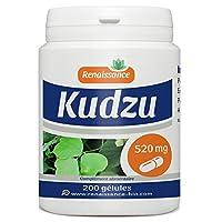 Kudzu 200 gélules dosées à 520mg Pueraria montana 1 gélule par jour avec un grand verre d'eau avant le repas et dans le cadre d'une alimentation équilibrée.