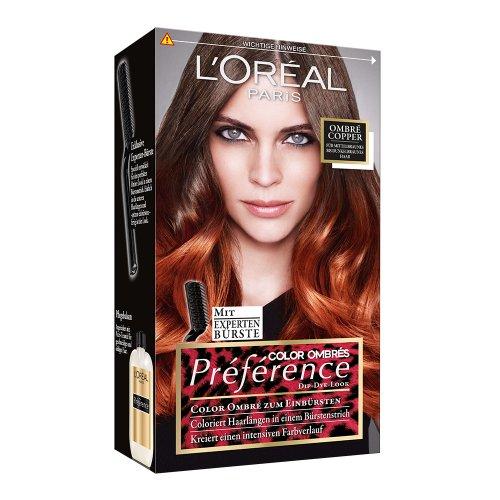 L'Oréal Paris Préférence, 7.4 Wild Ombre Copper, 3er Pack (3 x 1 Stück)