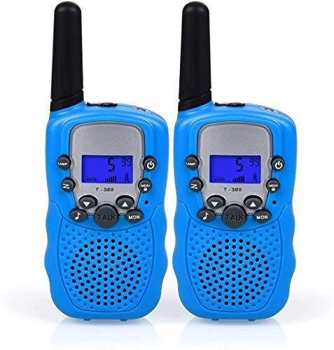 Lomoo Walkie Talkies Recargable, 8 Canales LCD Pantalla VOX Larga Distancia 3km...