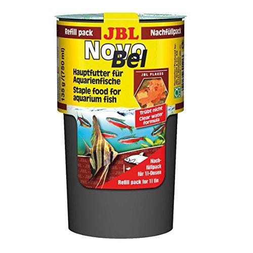 JBL NovoBel 30141 Alleinfutter für alle Aquarienfische, Nachfüllpack Flocken 750 ml