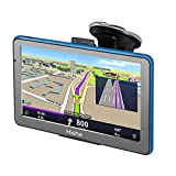 Hieha Sat Nav GPS Navigation System, 8GB 256MB Car Truck Lorry Satellite Navigator, with Post Code Search Speed Camera Alerts, latest UK and EU Maps Free Lifetime Updates(7 inch)