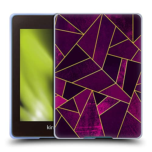 Head Case Designs Officiellt Licensierade Elisabeth Fredriksson Purple Stone Kollektion Mjuk Gel Fodral Kompatibelt med Kindle Paperwhite 4 (2019)