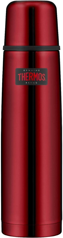 THERMOS Light&Compact 4019.248.100 - Termo (acero inoxidable, 1 L, apto para lavavajillas, mantiene caliente 24 horas y frío 24 horas, sin BPA)