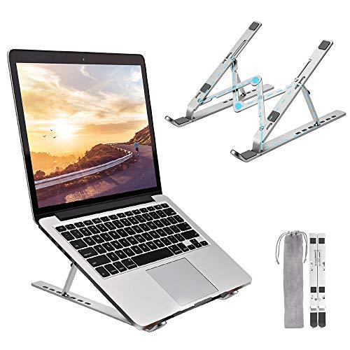 """Bansga Supporto PC Portatile Angolazione Regolabile Porta Notebook Pieghevole Alluminio Porta PC Supporto per MacBook Air/PRO, dell, XPS, HP, Lenovo And Other 10""""–17"""" LaptopsB"""