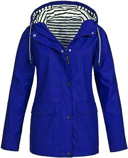 Women's Raincoat Hooded Jacket Raincoat Sailing Jacket Outdoors Weather Jacket Striped Lining Waterproof Oversize