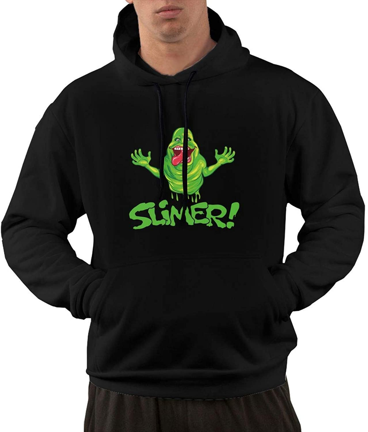 Leasan The Real Ghostbusters Slimer Men's Athletic Hoodie Fashion Hooded Sweatshirts