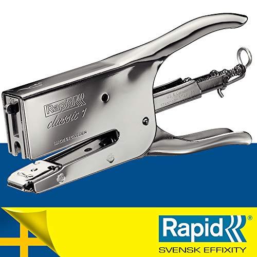 Rapid 10510601 Heftzange K1 (Metall, Heftleistung 50 Blatt, Heftklammerntyp 24) chrom