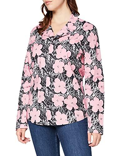 Calvin Klein L/S Button Down (Unisex) Capa de Base, Awh_Flowers Rosa Claro, L para Mujer