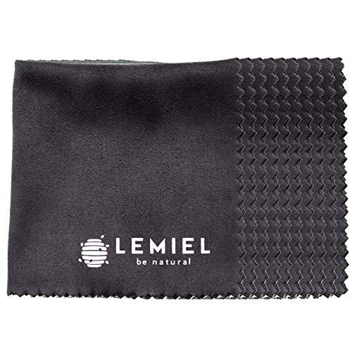 LEMIEL® 10x eco Mikrofaser Putztücher aus Nicht tierischem Nubuk - Brillen Mikrofasertuch - Reinigungstücher für Bildschirm Handy Sonnenbrille Objektiv - Mikrofaser Brillenputztuch