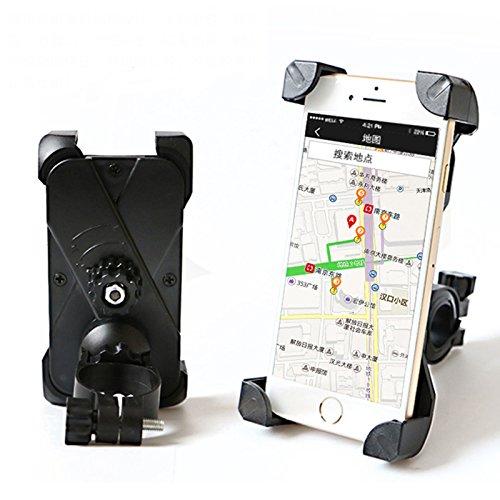 Bike Mount,Reusious universal de teléfono celular Bicicleta titular de la motocicleta soporte horquilla abrazadera para iOS Android Smartphone GPS otros dispositivos