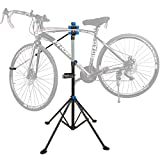 Clothink Bike Stand for Maintenance Repair Workstand Adjustable with Tool Tray, Mechanic Maintenance Rack Multiple Quick Release