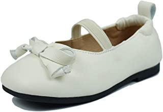 Muy Guay Toddler Girls Mary Jane Girls Dress Shoes Bow Ballerina Flat for Baby Girls and Little Girls