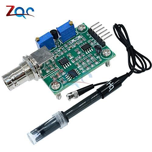 Detección de valor de PH líquido detectar módulo de sensor control de monitoreo para Arduino BNC electrodo sonda
