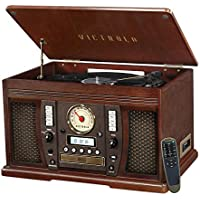 Victrola Aviator: 8-in-1 Bluetooth Turntable (Espresso)