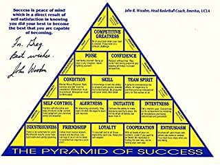 John Wooden Signed - Autographed UCLA Bruins Pyramid of Success 8x10 inch Photo - Deceased 2010