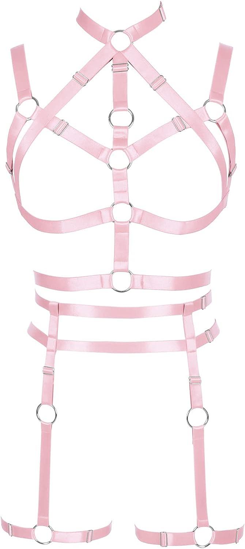 Garter belt set Lingerie cage Full body harness for women Halloween Punk Gothic Bra Plus size Festival rave