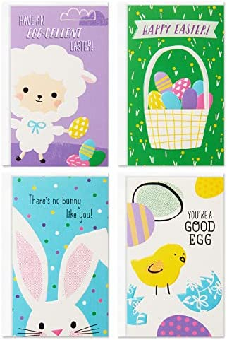 Hallmark Kids Mini Easter Cards Assortment 12 Cards with Envelopes Easter Eggs Bunny Chick product image