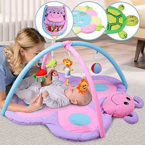 Infantastic Spieldecke mit Spielbogen - Schmetterling Design, Größe M 99/76 cm, mit Sensorik Spielzeug und Musik, ab 0 Monaten - Erlebnisdecke für Baby, Krabbeldecke, Spielmatte, Spielteppich