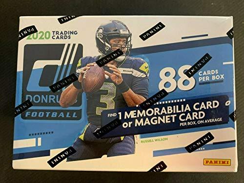 2020 Donruss Blaster Football Box NFL 88 Cards Per Box 1 Memorabilia Card or Magnet Card per Box