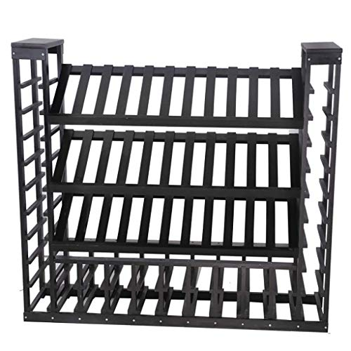 HLL Large Capacity Wine Cabinet 72 Bottles Wooden Tall Freestanding Wine Display Stand Floor Storage Wine Rack for Household Wine Shelf for Wine Cellar, Bar, Wine Show,B