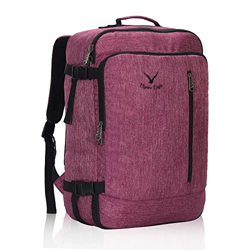 Veevan Cabin Flight Approved 38 Litre Weekend Backpack Carry On Bag Travel Hand Luggage Red Violet