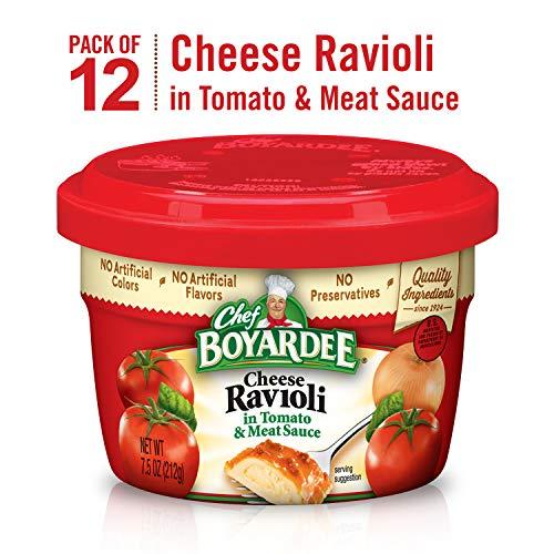 Chef Boyardee Cheese Ravioli, Microwavable Bowl, 7.5 Ounce, Pack of 12