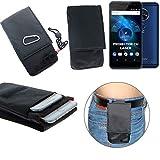 K-S-Trade® Gürtel Tasche Allview X4 Soul Vision Brusttasche Brustbeutel Schutz Hülle Smartphone Case Handy Schwarz Travel Bag Travel-Case Vertikal