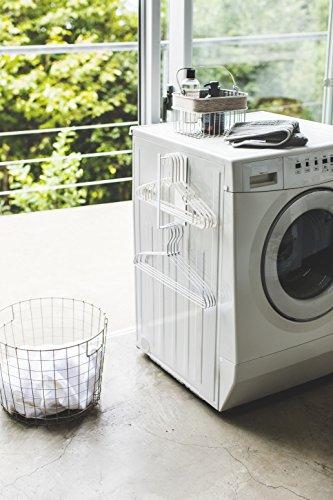 山崎実業マグネットハンガー収納洗濯機横洗濯ハンガー収納ラックタワーSホワイト3690