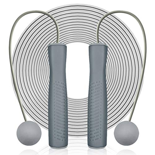 Springseil mit Kugellager, 2 in 1, verstellbar, kabellos, Springseil & Springseile für Indoor Outdoor Fitness Workout