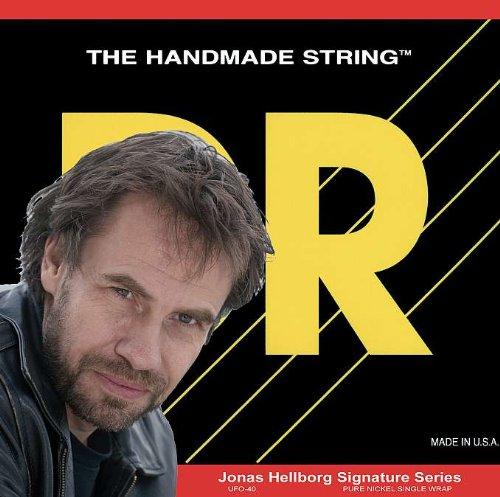 DR Hellborge Signature Jonas con revestimiento de hecho a mano de cuerdas para bajo eléctrico Extra Life, 40/100 pulgada.