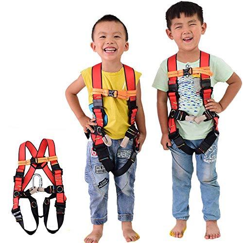 WQL Ganzkörper-Klettergurt für Kinder, Sicherheitsgurt Absturzsicherung für Kletterhalle und Kletterwand, Bergsteigen Wanderung Bergwanderer, Fallschutz- S/3-5years Old