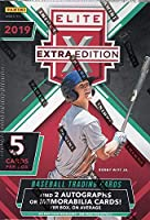 2019 Panini Elite Extra Edition Baseball BLASTER box (5 cards incl. TWO Memorabilia and/or Autograph cards)