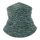 Piel de cocodrilo Textura verde sin costuras Unisex Fleece Cuello más cálido Calentador de cara Tubo de cuello Bufanda de cuello Polainas de cuello