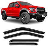 Voron Glass Tape-on Extra Durable Rain Guards for Trucks Ford F-150 2015-2020 SuperCrew, Window Deflectors, Vent Window Visors, 4 Pieces - 120020
