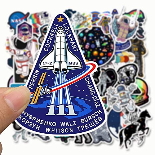 Astronaut Ruimte Station Stickers Cartoon Lunar Rocket Universum Sticky Voor Trolley Case Skateboard Graffiti Stickers 50 Stks/pak