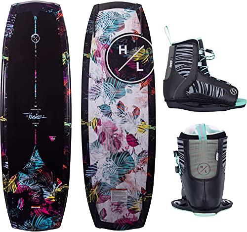Hyperlite Venice Womens Wakeboard 136 W/Jinx Bindings Black/Floral (8-11)