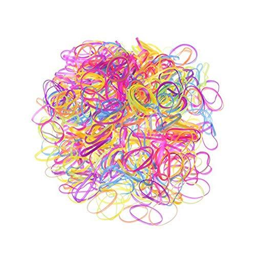 LANGING 2000 Stukken Willekeurige Kleur Elastische Rubber Haarbanden voor Kinderen Kapsel