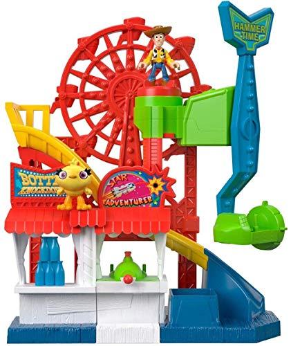 Fisher-Price GBG66 - Imaginext Disney Pixar Toy Story 4 Jahrmarkt Spielset mit Woody und Ducky, Spielzeug ab 3 Jahre