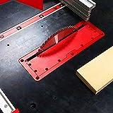 Piastra di copertura per sega circolare elettrica, flip-speciale piano piano tavolo regolabile in alluminio piastra di inserimento per sega da tavolo