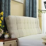 JKL J-Almohada Triangular cojín tapizado Wedge, Cabecera de Lectura del Respaldo de la Almohadilla, Bolsa Soft extraíble Wash, Acolchado del Respaldo Posicionamiento Soporte Almohada (Size : 1.5M)