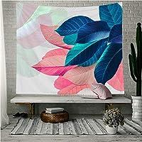 ftmxy 居間の寝室の装飾のための色とりどりの葉のタペストリーベッドカバー熱帯植物の葉印刷された壁掛けタペストリー-230X150CM