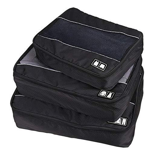 Ctzrzyt 3 unids/Set Sistema de Cubos de Embalaje Ropa de Alta Capacidad Equipaje Malla Bolsas de Viaje para Camisas Sujetador CalcetíN Bolsa Impermeable