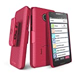 """BELTRON Jitterbug Smart2 Case with Belt Clip Holster Combo, Slim Protective Grip Case with Kickstand for Jitterbug Smart 2 Easy-to-Use 5.5"""" Smartphone for Seniors by GreatCall (5049SJBS2) - Red"""